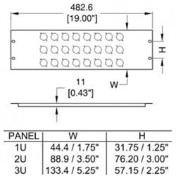 PAINEL PENN R-1269/1UK/08 RACK - 950804036